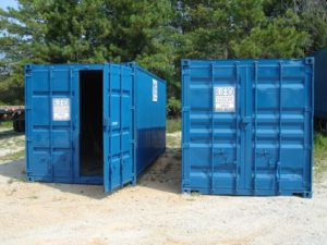 Containers for Construction Storage Blue Box Trailers Atlanta GA