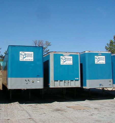 Storage Container Rentals in Atlanta GA with Blue Box Trailers